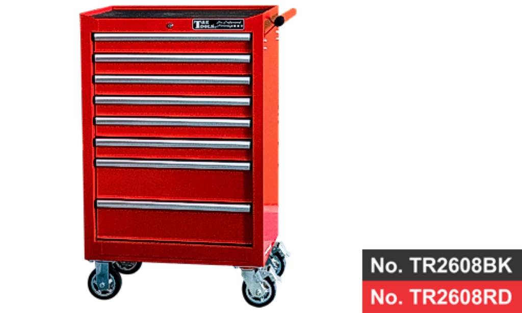 "26"" 8 Drawer Deep Roller Cabinet - Red"