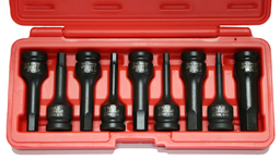 [159-94809] 9 Piece 1/2 Inch Drive SAE Deep In-Hex Impact Socket Set 78mm Long