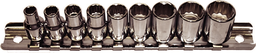 [159-92310] 9 Piece 1/4 Inch Drive 12 Point Standard SAE Sockets