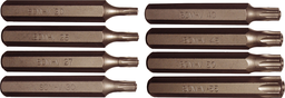 [159-91153] 9 Piece 5point Tamper Torx-Plus Bits (10mm Hex) T20-T55 75mm Long