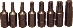 [159-91124] 9 Piece 5pttorx-Plus Insert Bit Set (5/16 Inch Hex) T10-T45 32mm Long