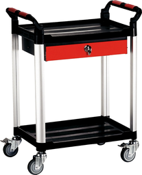 [159-KT201] Dual Tray Tool Cart With Drawer 750 470 950mm
