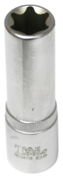 [159-54718] E18 1/2 Inch Drive Female Torx Socket 77mm Long