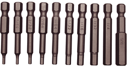 [159-91121] 11 Piece SAE Tamper In-Hex Power Bit Set (1/4 Inch Hex) 5/64.5/16