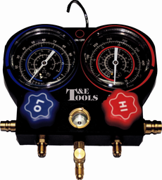 [159-AC901A] Illuminated R12 & R134a Air Conditioning Manifold Gauge Set