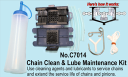 [159-C7014] Motor Cycle Chain Clean & Lube Maintenance Kit