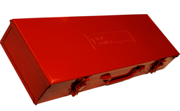 [159-C1129] Red Metal Case 3/4 Inch Drive Jumbo Socket Tin (540x 130x80)