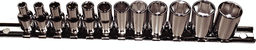[159-92212] 12 Piece 1/4 Inch Drive 6 Point Standard Metric Sockets