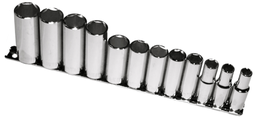 [159-93412] 12 Piece 3/8 Inch Drive 6 Point Metric Deep Sockets
