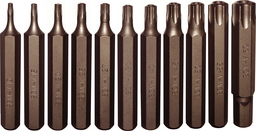 [159-91225] 12 Piece5/16 Inch Hex Tamper Torx Bit Set T10-T60 75mm Long