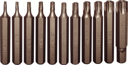 [159-91224] 12 Piece Tamper Torx Bit Set 10mm Hex T10-T60 75mm Long