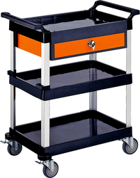 [159-EG100] Triple Tray Tool Cart With Drawer
