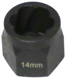 [159-T1044] 14mm Angular Spiral Twist Socket Hex Drive