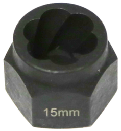 [159-T1045] 15mm Angular Spiral Twist Socket Hex Drive