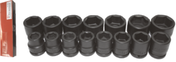 [159-97515] 15 Piece 3/4 Inch Drive SAE Impact Socket Set 3/4 Inch -2 Inch