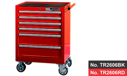 "[159-TR2606RD]  26"" 6 Drawer Roller Cabinet- Red"