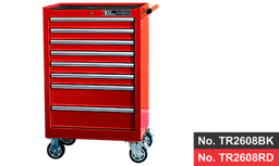 "[159-TR2608RD]  26"" 8 Drawer Deep Roller Cabinet - Red"