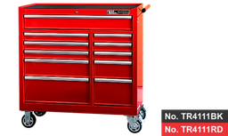 "[159-TR4111RD]  41"" 11 Drawer Roller Cabinet- Red"