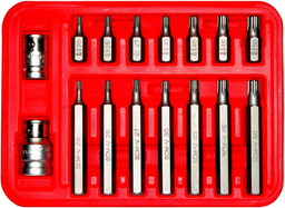 [159-91156] 16 Piece 5pttampertorx-Plus Bits 10mm Hex T20-T55 30&75mm Long
