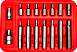 [159-91230] 16 Piece Metric 10mm In-Hex 4-12mm 30 & 75mm Long