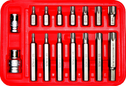 [159-91213] 16 Piece Tamper Torx Bit T25 To T60 10mm Hex 30mm &75mm Long