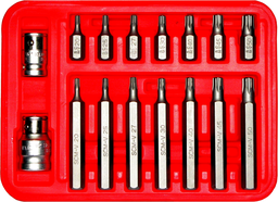 [159-91222] 16 Piece Torx Plus Bit Set T20-T50 5/16 Inch Hex 30 & 75mm Long