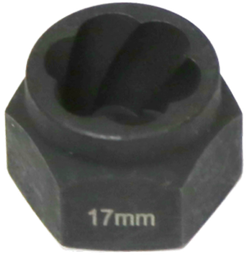 [159-T1047] 17mm Angular Spiral Twist Socket Hex Drive