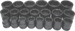 [159-97521] 21 Piece 3/4 Inch Drive Standard Impact Socket Set 3/4 Inch -2
