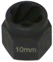 [159-T1040] 10mm Angular Spiral Twist Socket Hex Drive