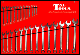 [59E-71026] 26 Piece Euro Metric Combination Wrench Set 6-32mm