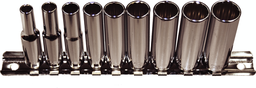 [159-92510] 10 Piece 1/4 Inch Drive 12 Point Deep Metric Sockets