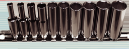 [159-92410] 10 Piece 1/4 Inch Drive 6 Point Deep Metric Sockets