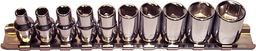 [159-92210] 10 Piece 1/4 Inch Drive 6 Point Standard SAE Sockets