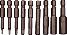 [159-91123] 10 Piece Metric Tamper In-Hex Power Bit Set (1/4 Inch Hex) 2-10mm