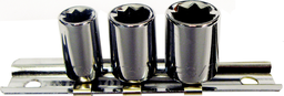 [159-92103] 3 Piece 1/4 Inch Drive 8 Point Standard Sockets
