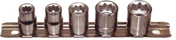 [159-93205] 5 Piece 3/8 Inch Drive 8 Point Sockets 1/4 Inch To 1/2 Inch