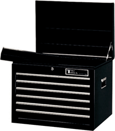 [159-TEST1806BK] 6 Drawer Ball Bearing Chest Black Special