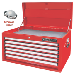 [159-TES1608RB] 6 Drawer Roller Bearing 18 Inch Deep Top Chest