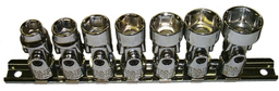 [159-93807] 7 Piece 3/8 Inch Drive 6 Point SAE Universal Sockets