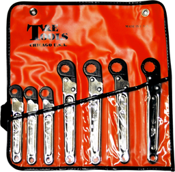 [159-6107] 7 Piece Metric Ratchet Tube Wrench Set