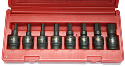 [159-97448] 8 Piece 1/2 Inch Drive Impact Universal In-Hex Socket Set 1/4 Inch .3/4 Inch