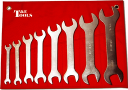 [159-99308] 8 Piece SAE Super Thin Open End Wrenches 3/8 Inch To 1.5/16 Inch