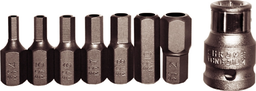 [159-91129] 8 Piece SAE Tamper In-Hex Insert Bit Set (5/16 Inch Hex) 1/8.5/16